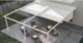 Pergola impacchettabile addossata alluminio