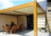 Pergolato serie Bioclimatic orientabile Linea alluminio legno