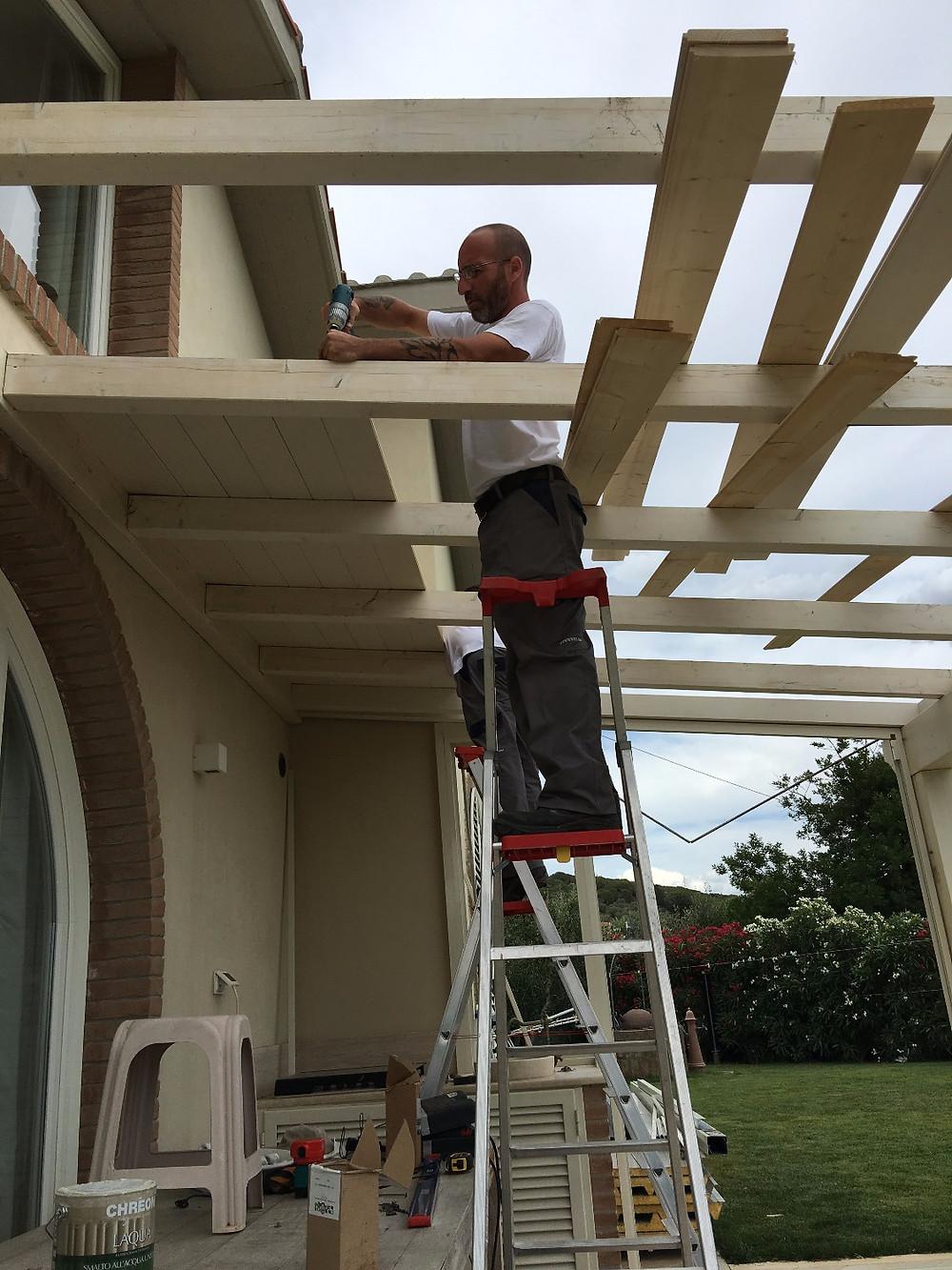 Applicazione soffitto in legno