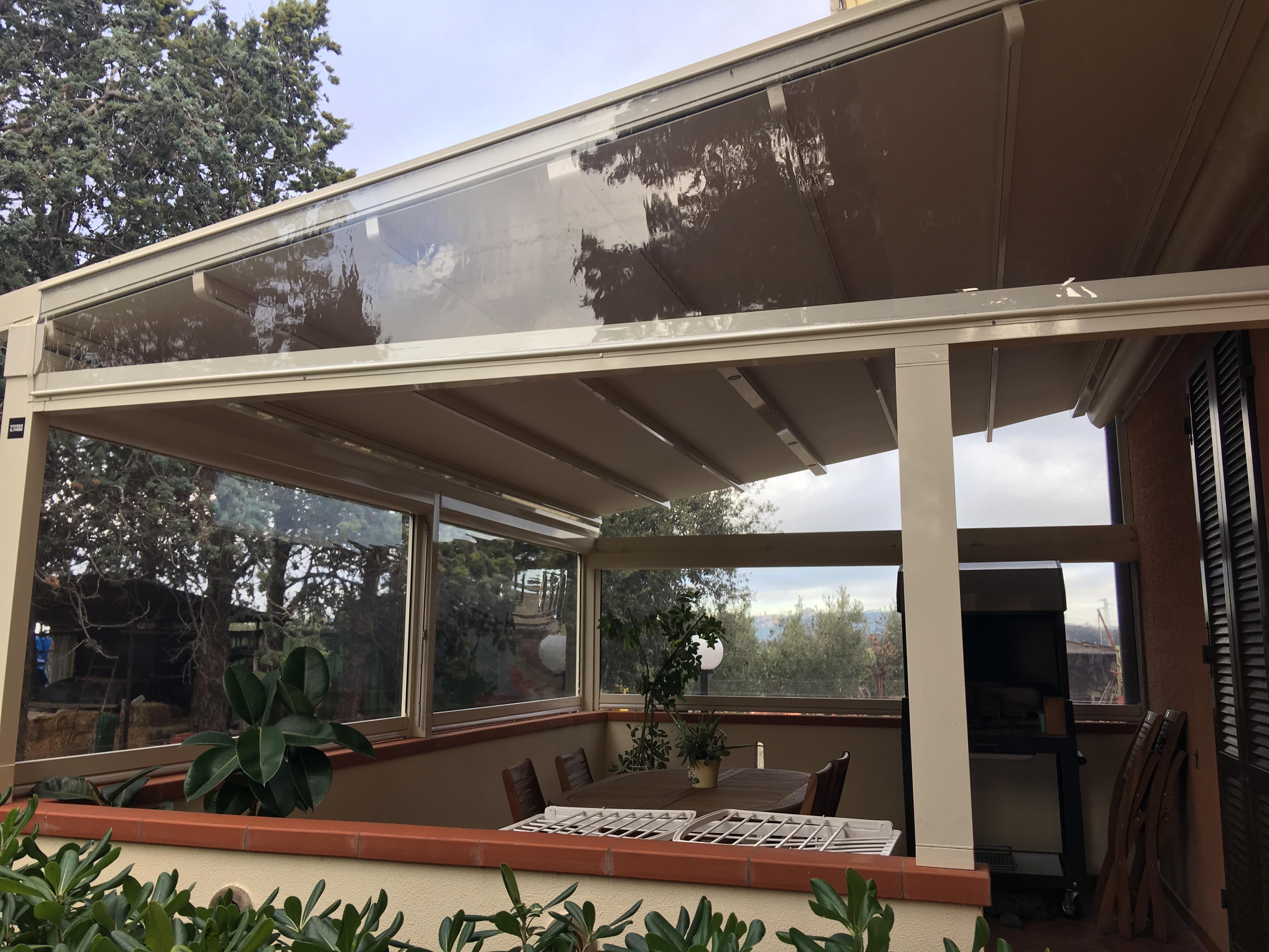 chiusura balcone trasparente