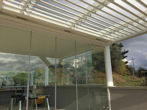 Serra solare linea Alluminio con bioclimatica