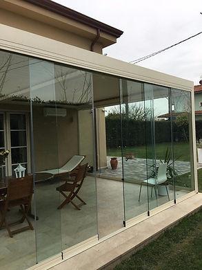 Pergolato serie Bioclimatic Linea alluminio legno