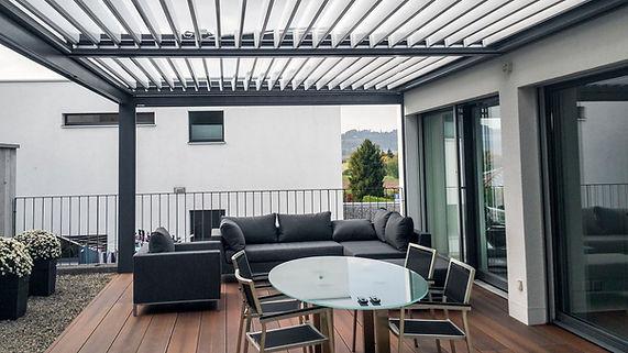 Pergolato serie Bioclimatic orientabile Linea alluminio