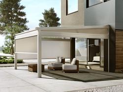 veranda impacchettabile alluminio