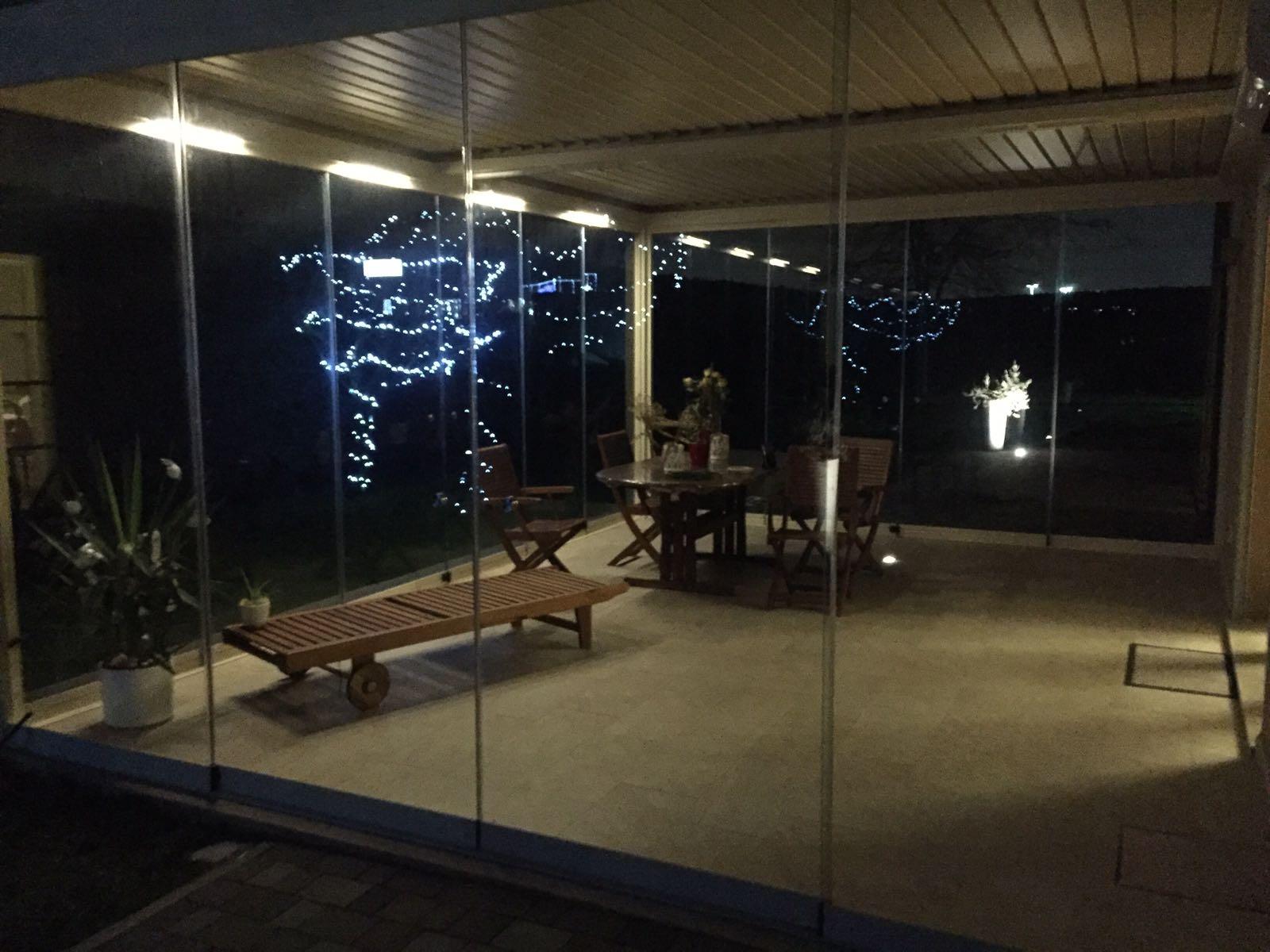 Veranda Mediterraneo bio di notte