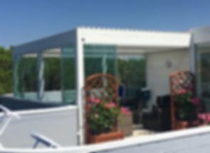Serra solare linea Alluminio con tetto apribile