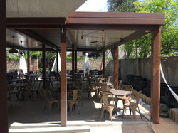 Veranda legno alluminio vetro