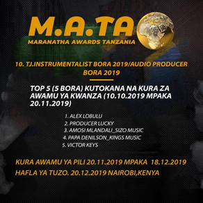 Alex Lobulu Top 5 Best Audio Producer M.A.TA