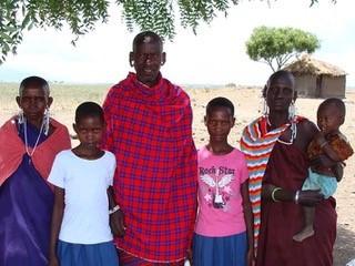 Angel Mollel Maasai family in Tanzania