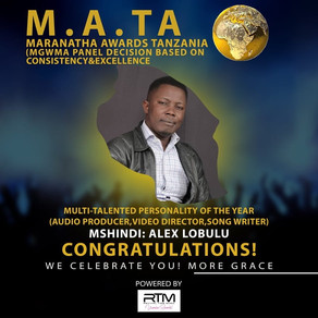 Alex Lobulu Wins Multi-Talented Personality of the Year M.A.TA