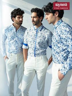RaymondbluepatternShirts