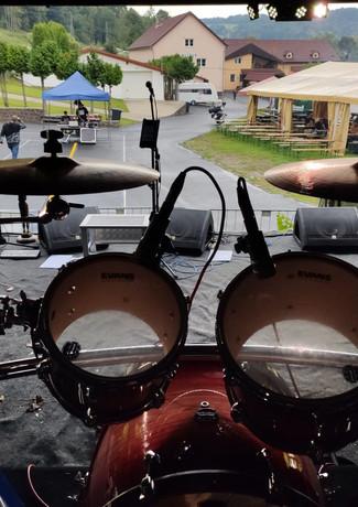 Pohled od bicích
