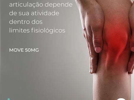 Move 50mg ajuda na recuperação das articulações ocasionadas pela osteoartrite