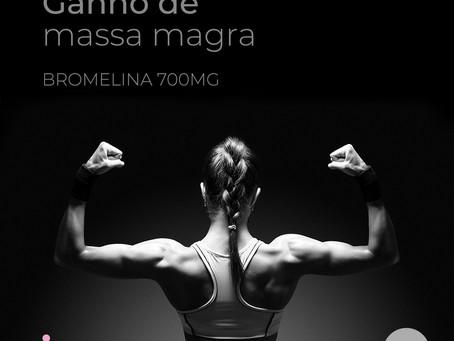 Bromelina 700mg ajuda na absorção de proteínas pelo corpo humano
