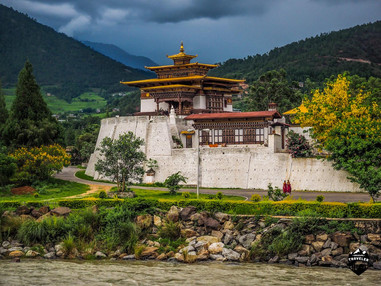 The exterior view of the Punakha Dzong