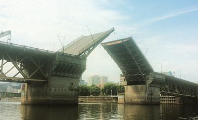 double bascule leaf bridge