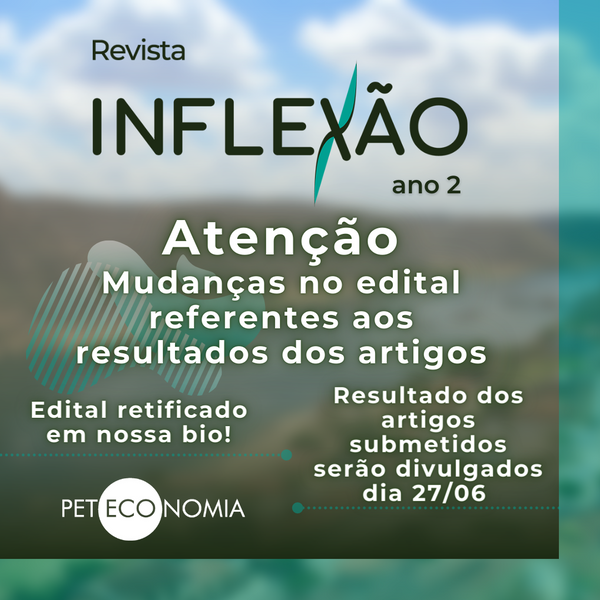 Edital Retificado de Submissão da Revista Inflexão Ano 2