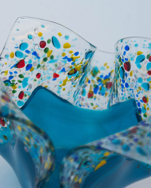 CANDLE HOLDER - Blue Confetti