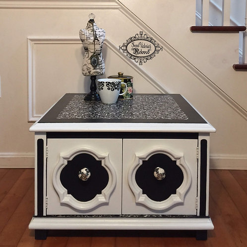 Black & White End Table