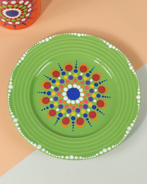 MANDALA DOT ART - Feelin' Saucy Plate