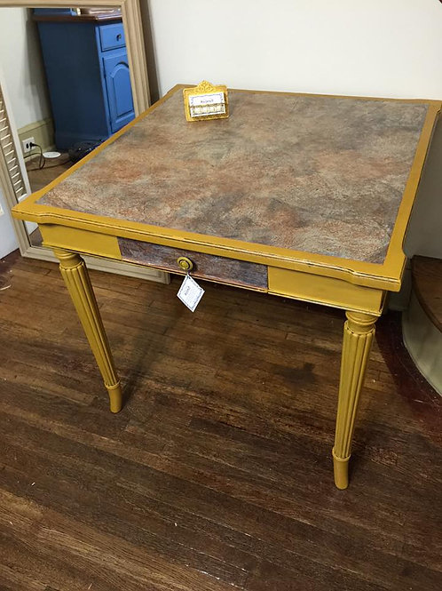 Handpainted Leather-Top Table