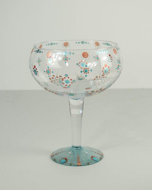 MANDALA DOT ART GLASS - Oversized Fun Champagne Goblet