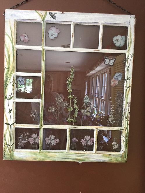 Painted Fleur Window
