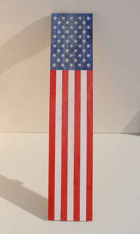 WOODEN AMERICAN PORCH FLAG* - large, no text. Customization available