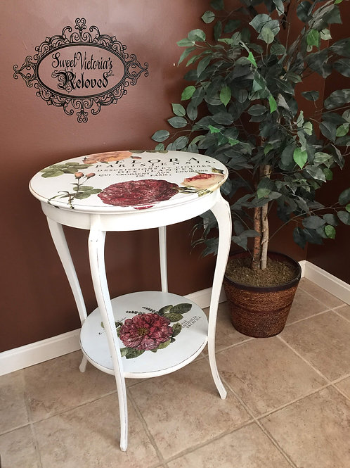 Round Flower Table