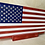 Thumbnail: WOODEN AMERICAN FLAG SIGN* - mini with stand
