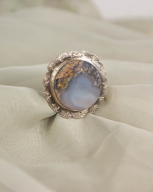 MOSS AGATE RING - size 7