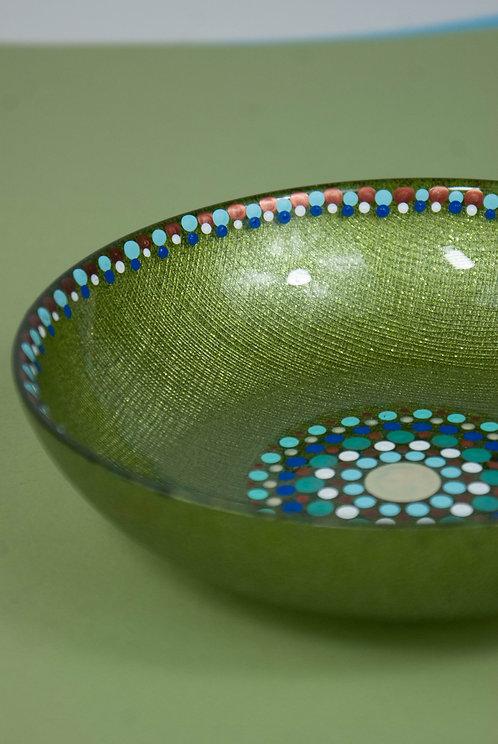 MANDALA DOT ART - One of a Kind Decorative Bowl