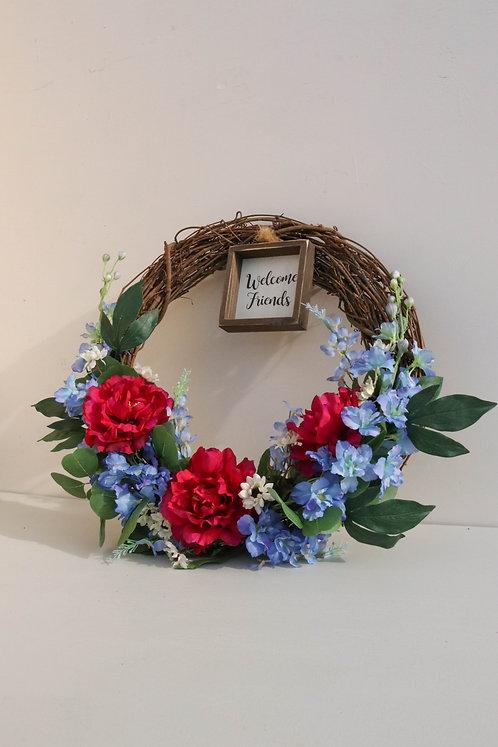 Welcome Friends Wreath