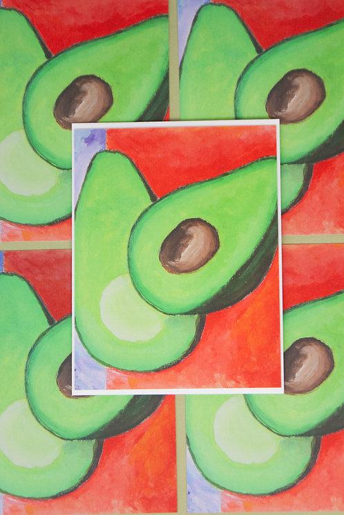 """""""AVOCADO SEASON"""" - postcards"""