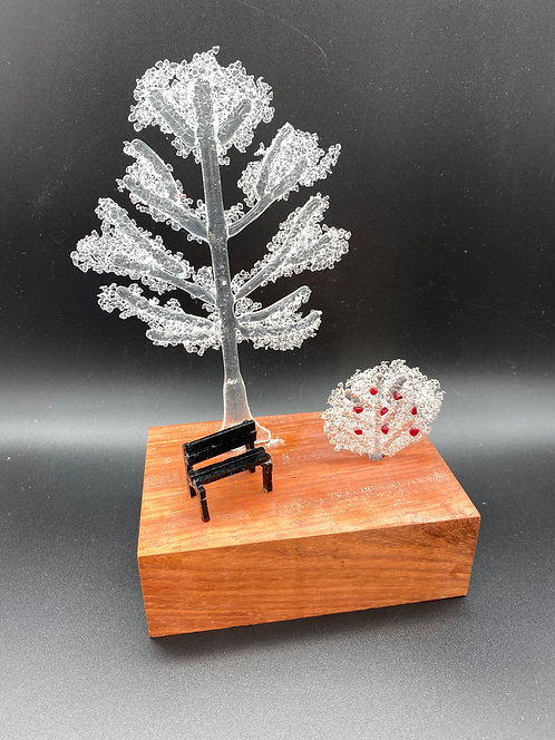 """GLASS SCULPTURE - """"Waiting For Only You"""""""