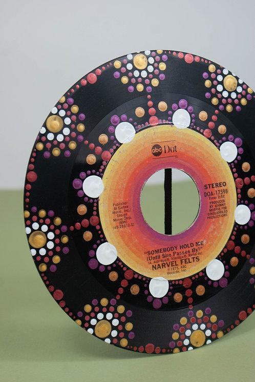 MANDALA DOT ART - Custom 45 Record