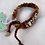 Thumbnail: KNITTED BEADED KATRINA STYLE BRACELET with recycled wooden beads