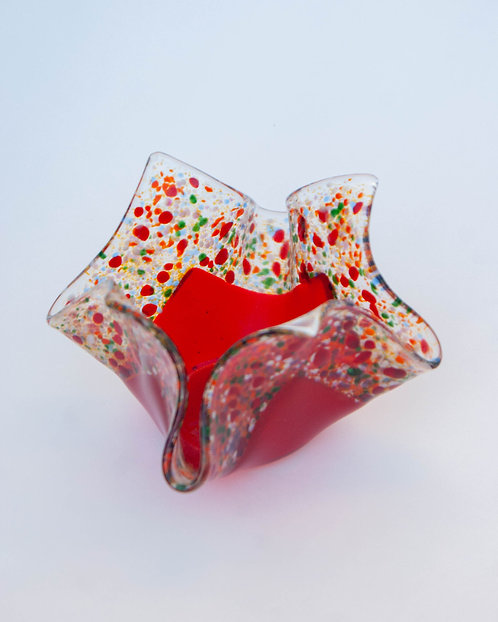 CANDLE HOLDER - Red Confetti