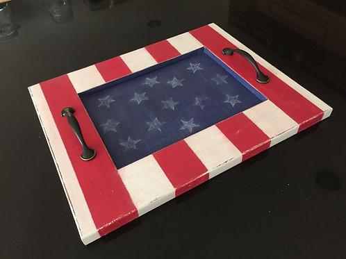 Patriotic Centerpiece Tray