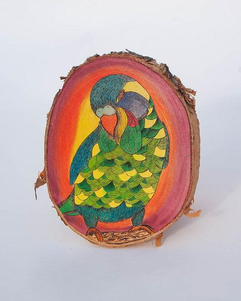 PYROGRAPHY ART - Funky Fresh Parrot
