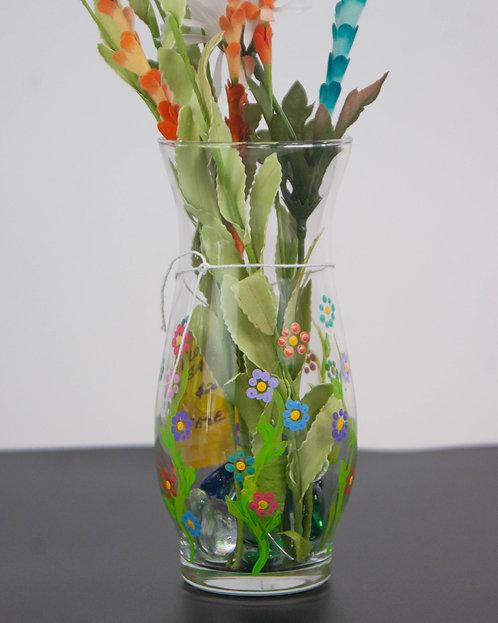 MANDALA DOT ART - Flowers Galore Vase