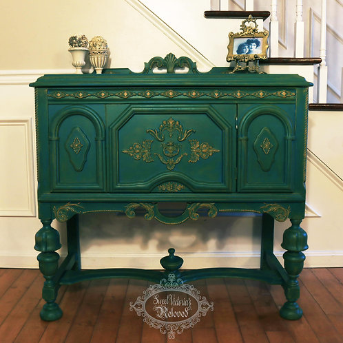 Green & Turquoise Credenza