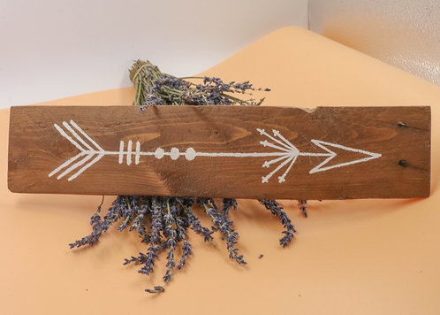 ARROW SIGN - salvaged wood