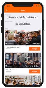 Spotfood app deals page