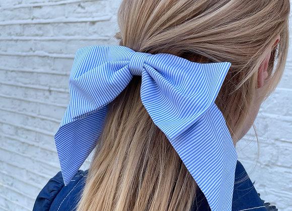 Cotton stripe bow