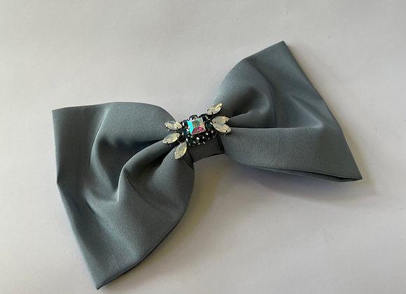 Ash blue embellished bow