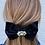 Thumbnail: Black silk and crystal hair clip