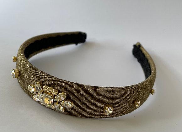 Gold wool, lurex embellished headband