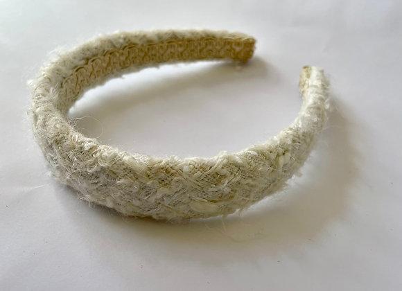 White boucle head band