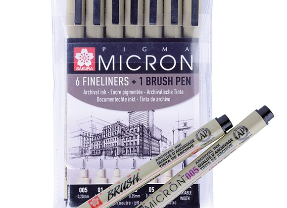 Sakura Pigma Micron 6+1 Brush